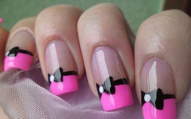 Bow-french-nail-designs