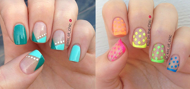 Cute-Polka-Dot-French-Nail-Art-Designs