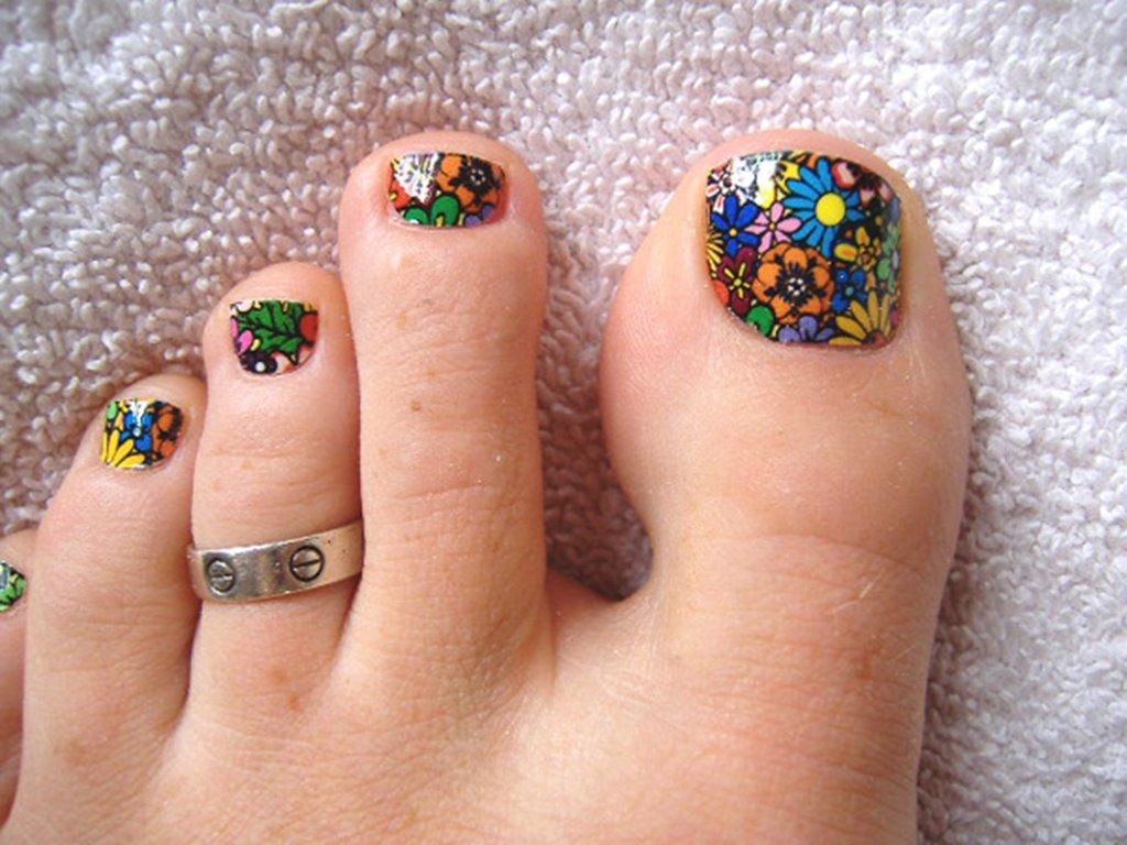Nail art for your beautiful feet nailkart nail art designs feet wallpaper prinsesfo Images