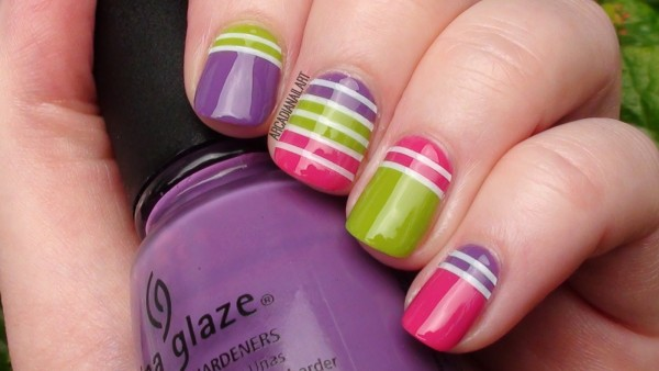 bright striped design