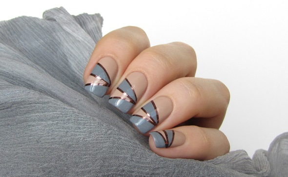 copper tape nail art