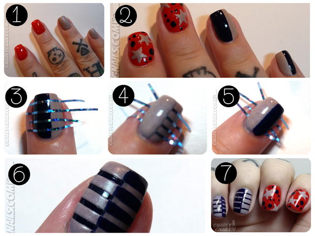 40+ Beautiful Nail Arts that you can do with Nail Stripes ...