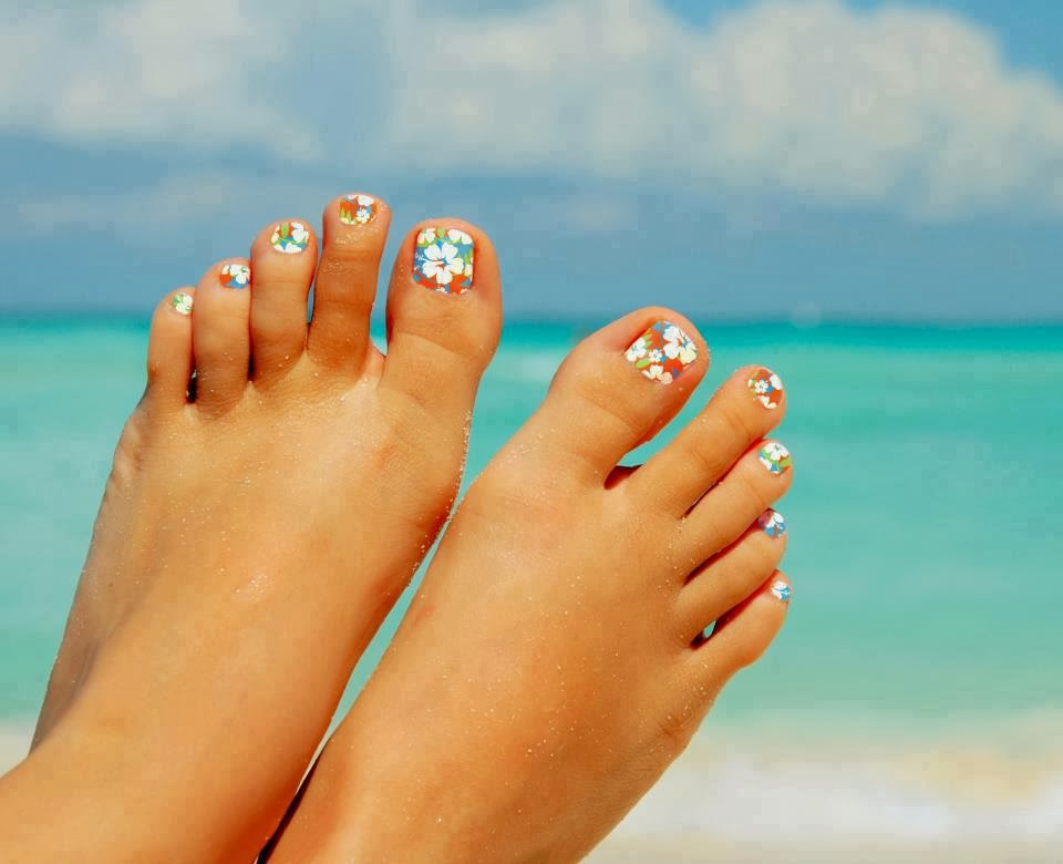 toe-nail-art-splendid-tropical-themed-toe-nail-art-design-idea-tropical-toe-nail-designs