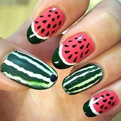 water-melon-nail-art