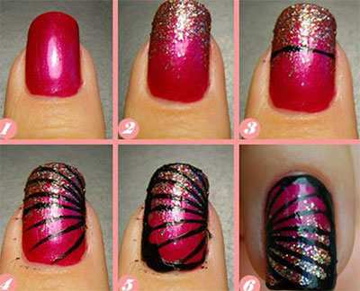 30 best nail art image tutorials gives you sexy nails nailkart step by step nail art tutorial 18 nail art designs prinsesfo Image collections