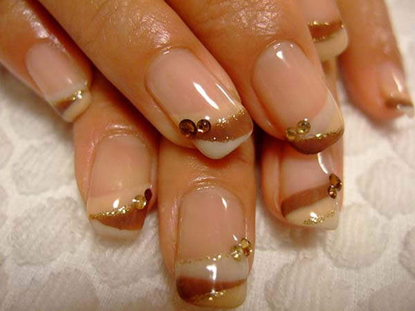 gel acrylic nail art
