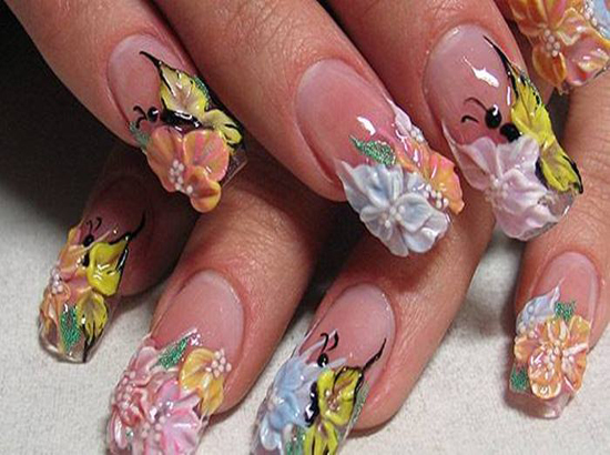 25 Simple And Beautiful Japanese 3d Nail Art Nailkart