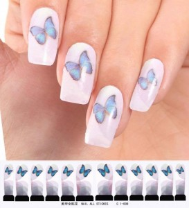 butterfly water decal Nail art stickers