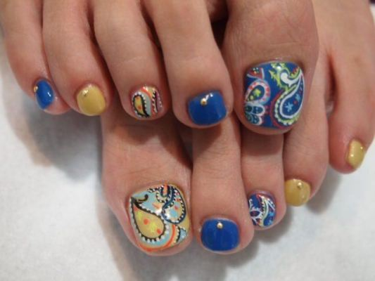 nail art ideas toes