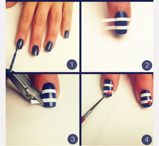 30 best nail art image tutorials gives you sexy nails nailkart simple nail art step by step instruction prinsesfo Gallery