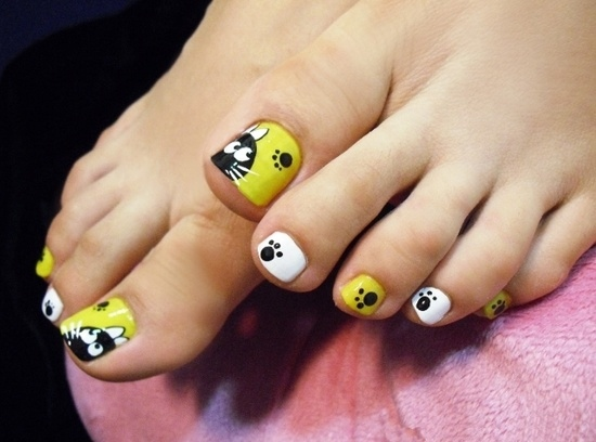 nail art for toes images