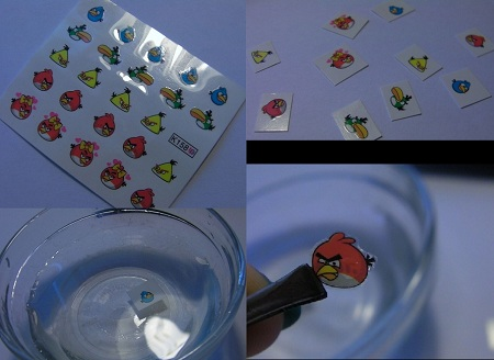 Water decal nail art stickers