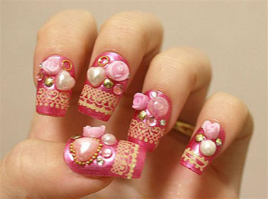 beautiful party nails