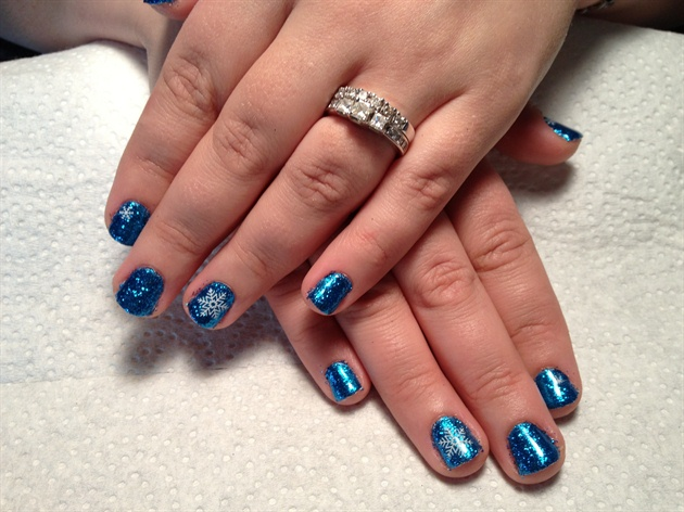 shellac nails designs