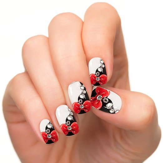 bow-knot-style_3D nail art