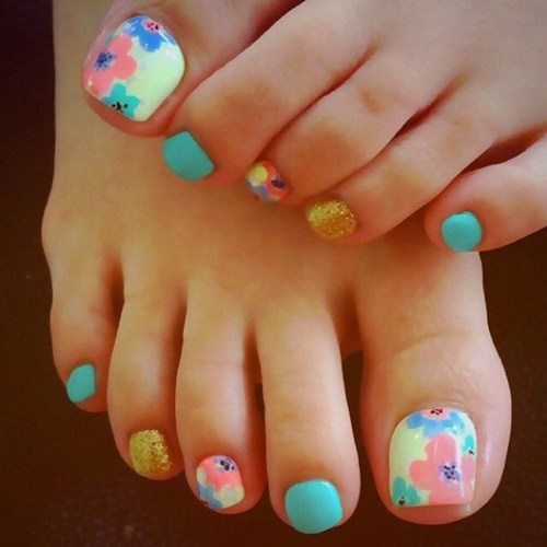 nail art images for feet