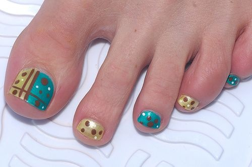 nail art for feet nails