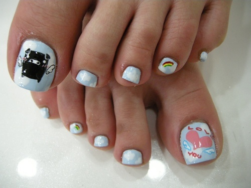 nail art for toes easy