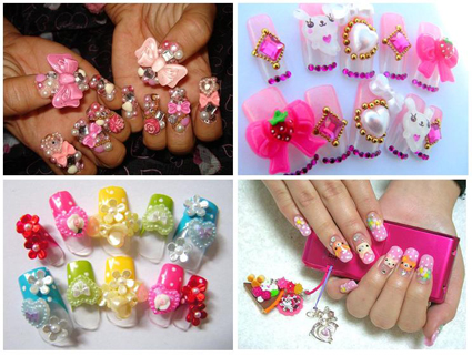 Japanese kawaii nail art