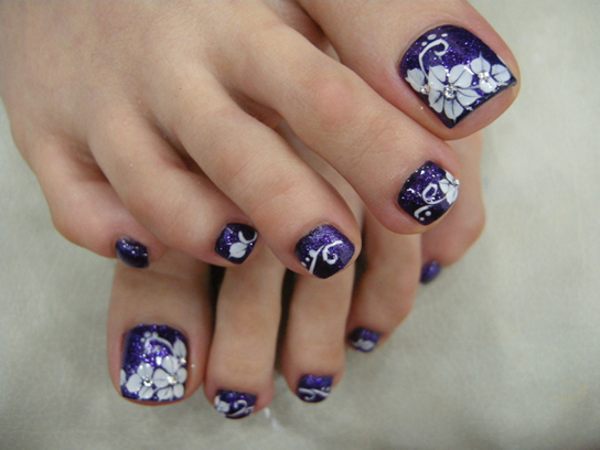 nail art for toes pictures