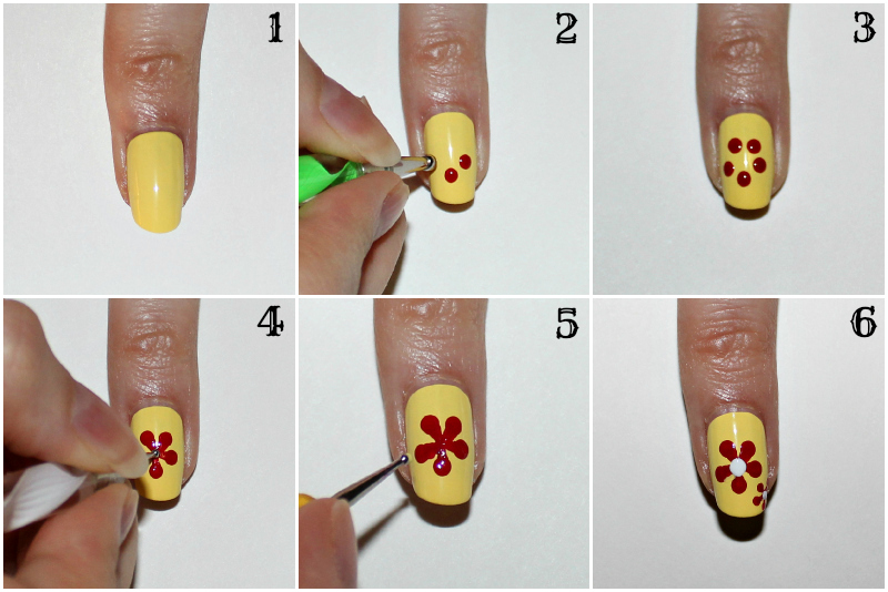 30 best nail art image tutorials gives you sexy nails nailkart trinemarie dotted flower nail art prinsesfo Image collections