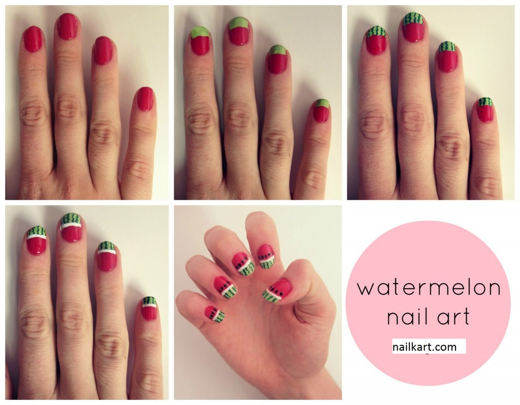 30 best nail art image tutorials gives you sexy nails nailkart watermelon melon notd nail art prinsesfo Choice Image
