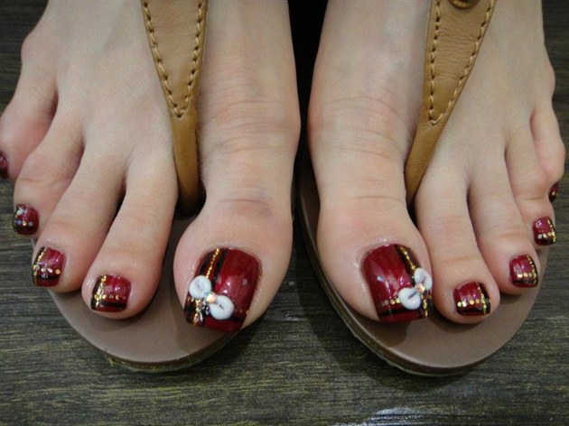 nail art for toes simple designs