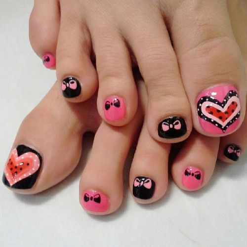 Easy nail art for feet childishly easy toe nail designs foot nail art designs view images prinsesfo Images