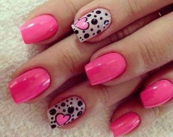 pretty pink nail art designs