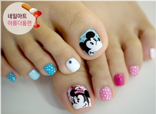 Nail art design on feet don t forget to add a top coat for toenail art design pink and black toes nail gallery view images prinsesfo Choice Image