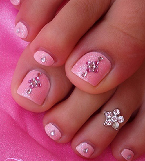Summer-Toe-Nail-Art-Designs-Cute-Pink-Toe-Nail-Design