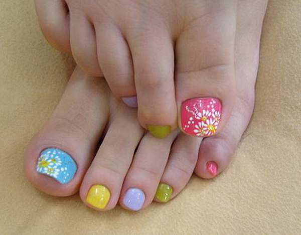 Simple nail art designs for beautiful feet nailkart toe nail art designs2 prinsesfo Images