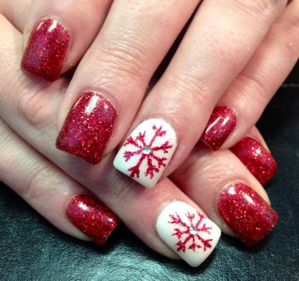 cute nail designs red flake