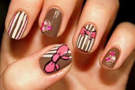simple bow nail art designs