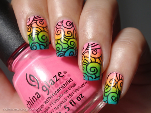 rainbow nail art design ideas
