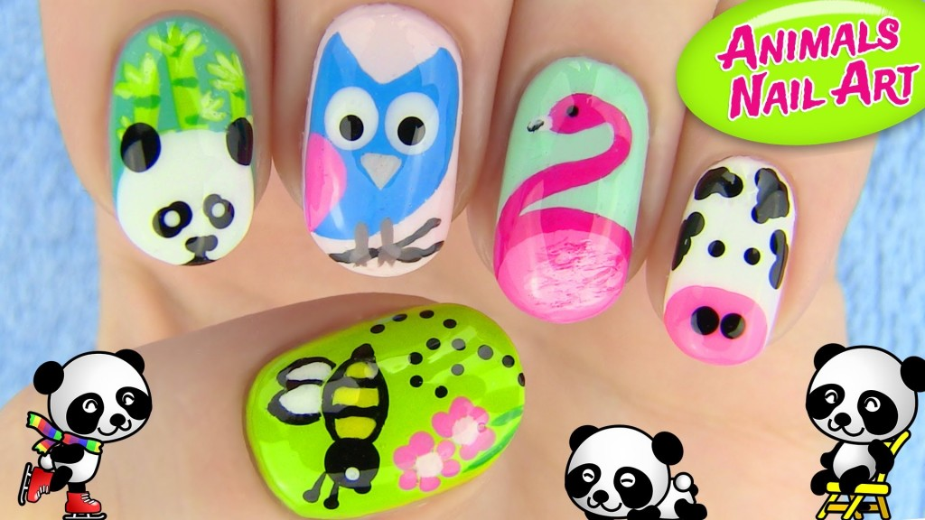 animals nail art designs