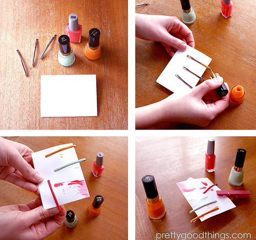 diy crafts with nail polish