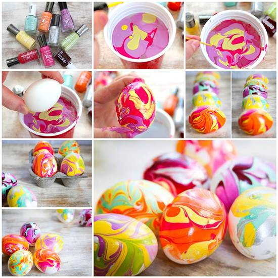 easter egg nail polish