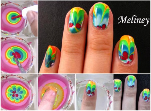 water nail art designs step by step
