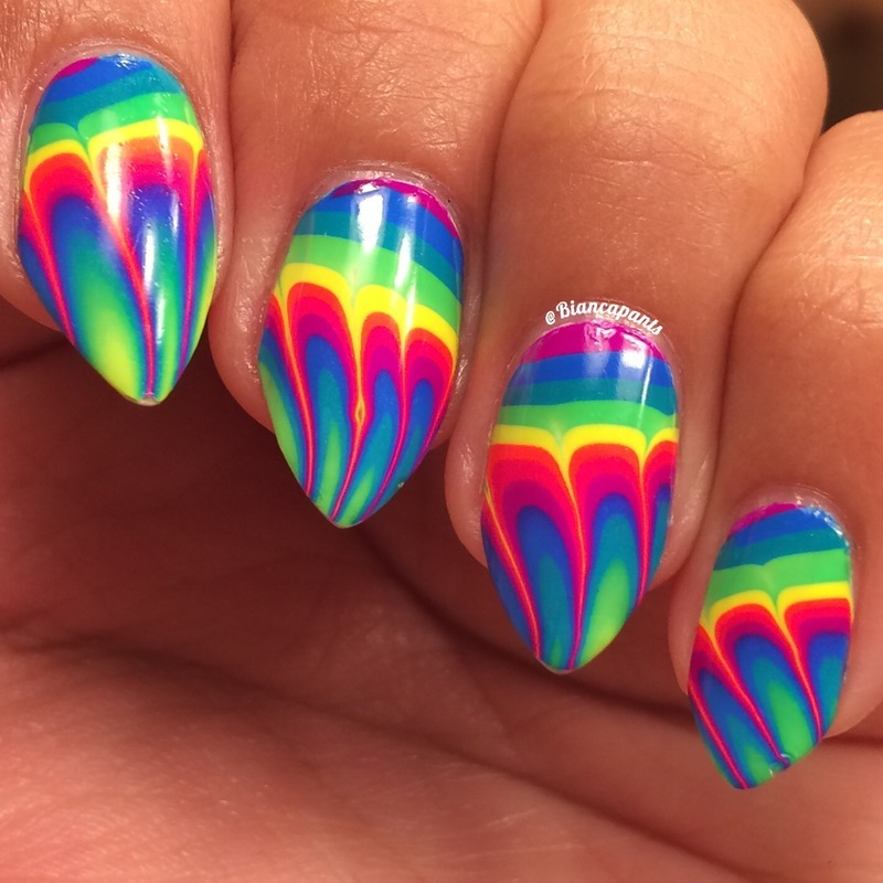Water Marble Nail Art At Home For Beginners
