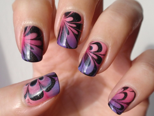 Water marble nail art at home for beginners nailkart water marble nails prinsesfo Gallery