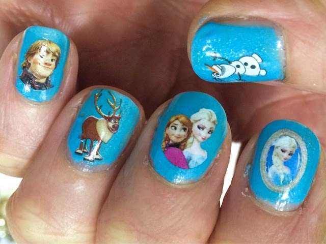 frozen nail art 2
