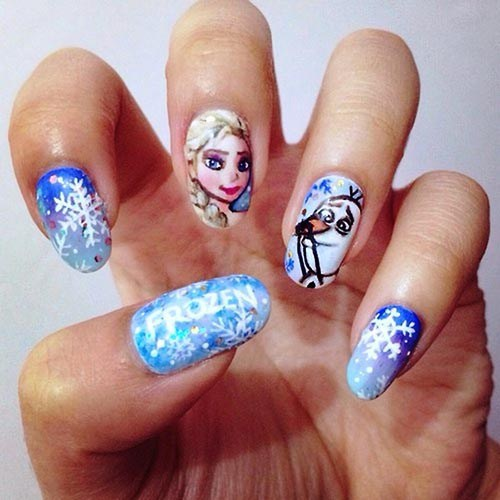 frozen nail art 4