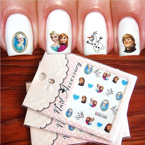 frozen nail art sticker 1