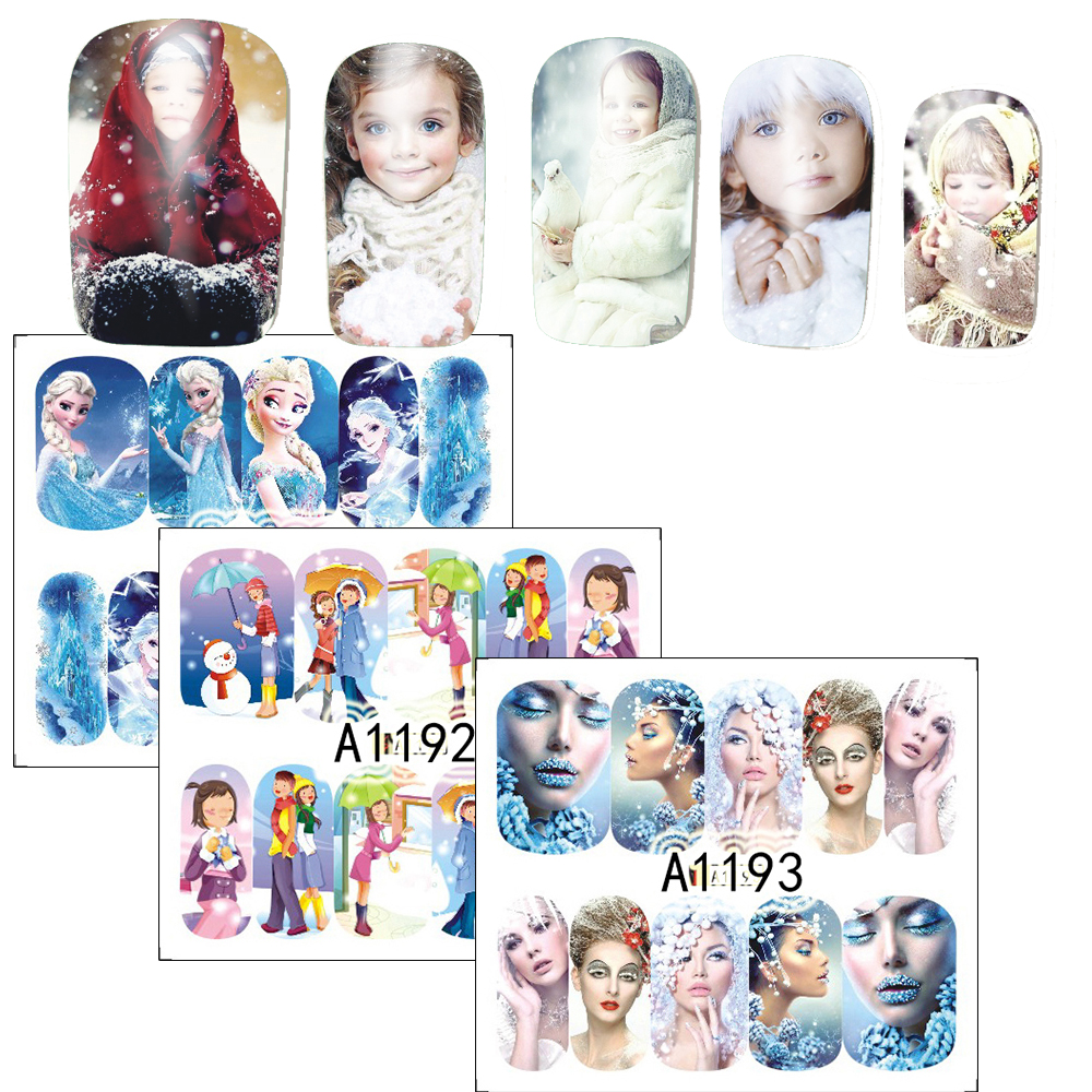 frozen nail art sticker 3